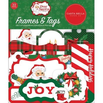 Carta Bella DEAR SANTA Frames And Tags Ephemera cbde125025