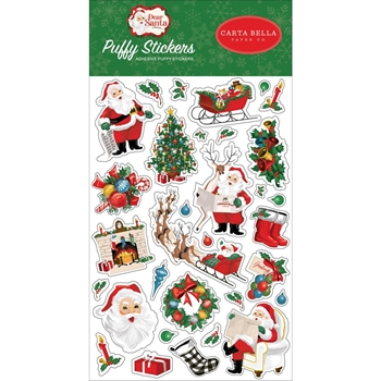 Carta Bella DEAR SANTA Puffy Stickers cbde125066