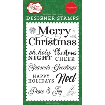 Carta Bella MERRY CHRISTMAS SENTIMENT Clear Stamps cbde125042