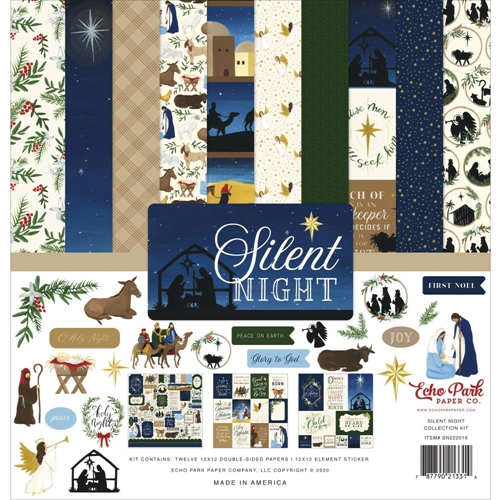 Echo Park SILENT NIGHT 12 x 12 Collection Kit sn222016 Preview Image