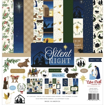 Echo Park SILENT NIGHT 12 x 12 Collection Kit sn222016