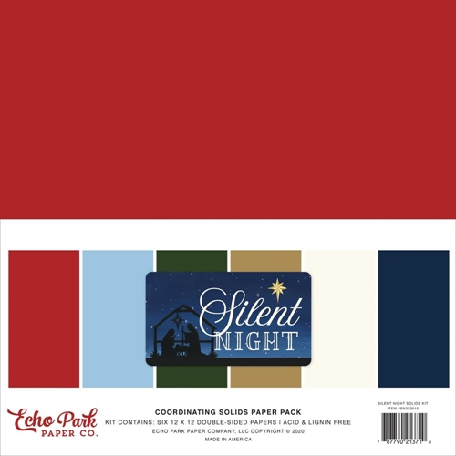 Echo Park SILENT NIGHT 12 x 12 Solids Paper Pack sn222015 Preview Image