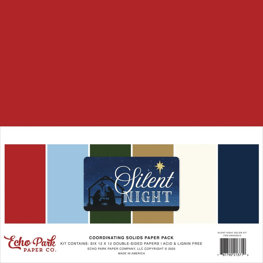 Echo Park SILENT NIGHT 12 x 12 Solids Paper Pack sn222015 zoom image