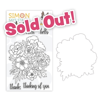 Studio Katia FLORAL BUNCH Clear Stamps and Dies STAMPtember 2020 Exclusive sssd112250c