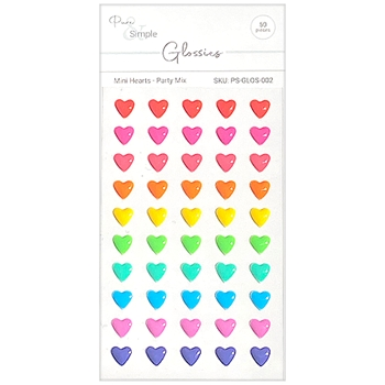 Julie Hickey Designs MINI HEARTS PARTY MIX Glossies PSGLOS002
