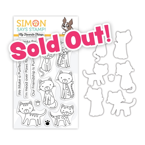 My Favorite Things PURRFECT FRIENDS Clear Stamps and Dies Stamptember 2020 Exclusive sssd112241c Preview Image