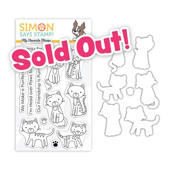 My Favorite Things PURRFECT FRIENDS Clear Stamps and Dies Stamptember 2020 Exclusive sssd112241c
