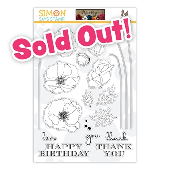 Paper Rose Studio LONG STEM FLOWERS Stamptember 2020 Exclusive Clear Stamps sss202213c