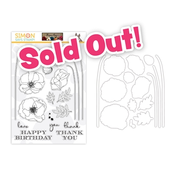 Paper Rose Studio LONG STEM FLOWERS Clear Stamps and Dies Stamptember 2020 Exclusive sssd112254c