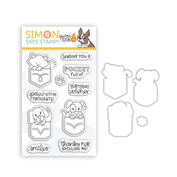 Newton's Nook POCKETFUL OF HAPPY Clear Stamps and Dies Stamptember 2020 Exclusive sssd112263c