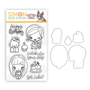 The Greeting Farm GOT CAKE Stamps and Dies Stamptember 2020 Exclusive sssd112264c