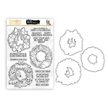 Brutus Monroe BOUNTY OF WREATHS Clear Stamps and Dies Stamptember 2020 Exclusive sssd112258c