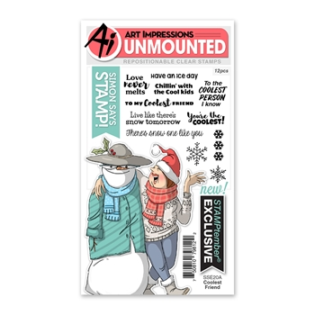 Art Impressions COOLEST FRIEND Stamptember 2020 Exclusive Clear Stamps sse20a