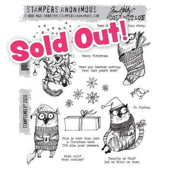 Tim Holtz Stamptember 2020 Exclusive Snarky Christmas Cats