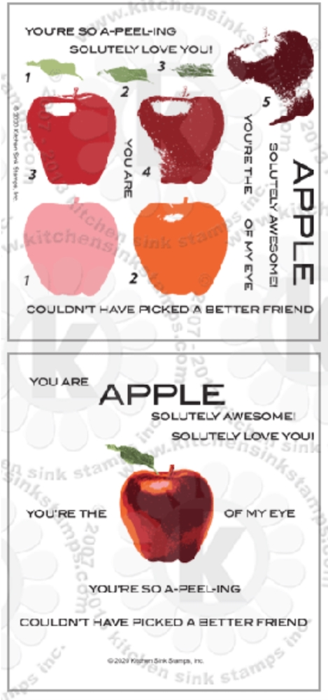 Kitchen Sink Stamps APPLE kss059 zoom image