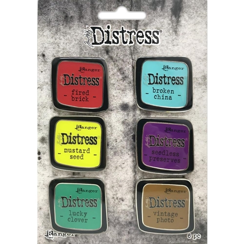 Tim Holtz Distress Enamel Pin SET 2 Ranger tdzs73444 Preview Image