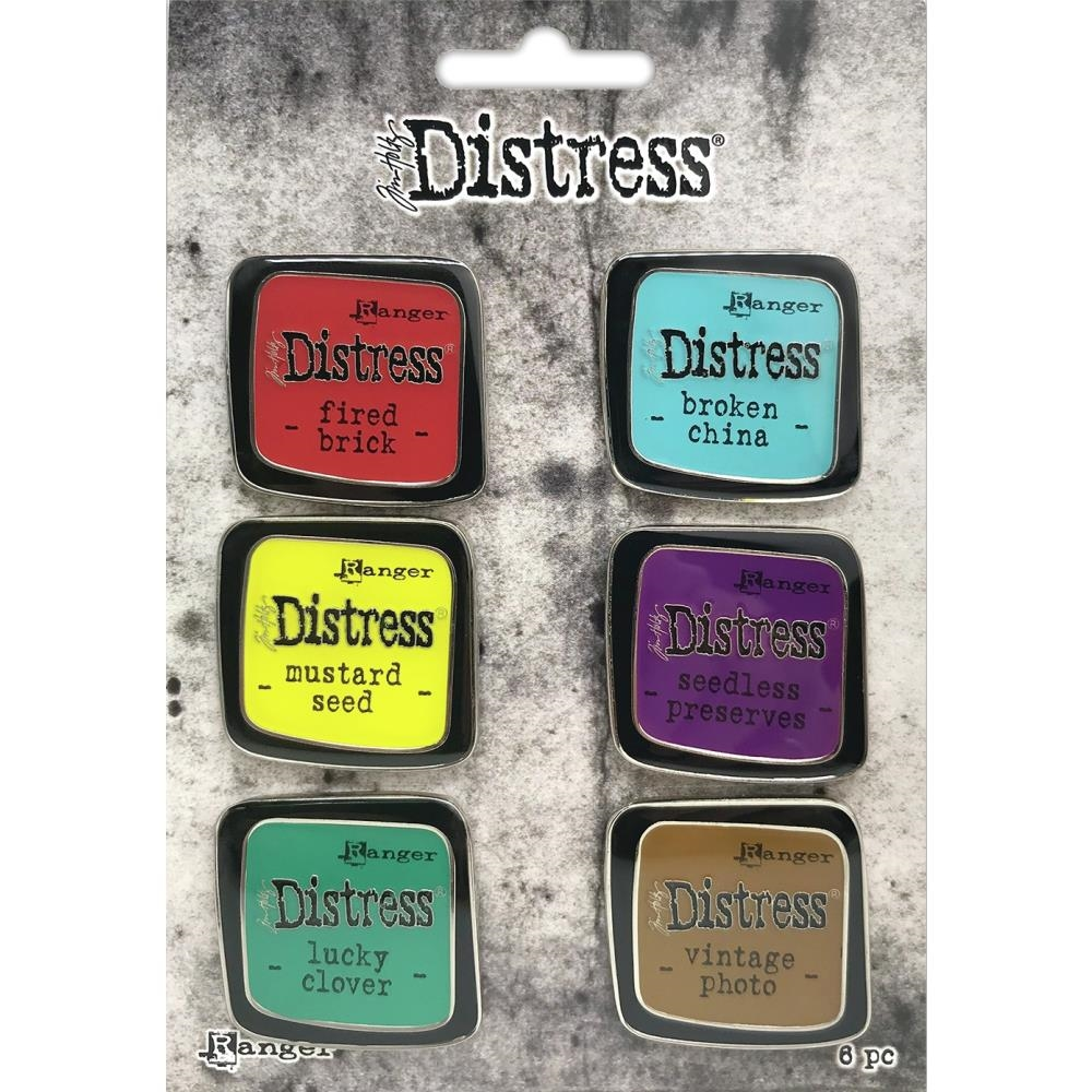 Tim Holtz Distress Enamel Pin SET 2 Ranger tdzs73444 zoom image