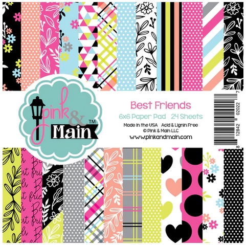 Pink and Main BEST FRIENDS 6x6 Paper Pad PMP038 zoom image