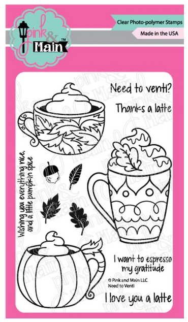 Pink and Main NEED TO VENTI Clear Stamps PM0422 zoom image