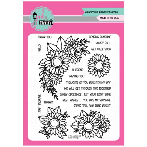 Pink and Main SUNNY GREETINGS Clear Stamps PM0421 Preview Image