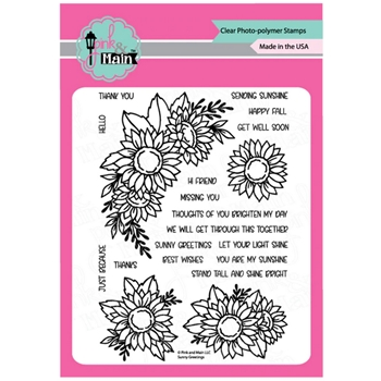 Pink and Main SUNNY GREETINGS Clear Stamps PM0421