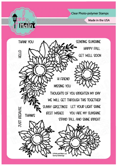 Pink and Main SUNNY GREETINGS Clear Stamps PM0421 zoom image