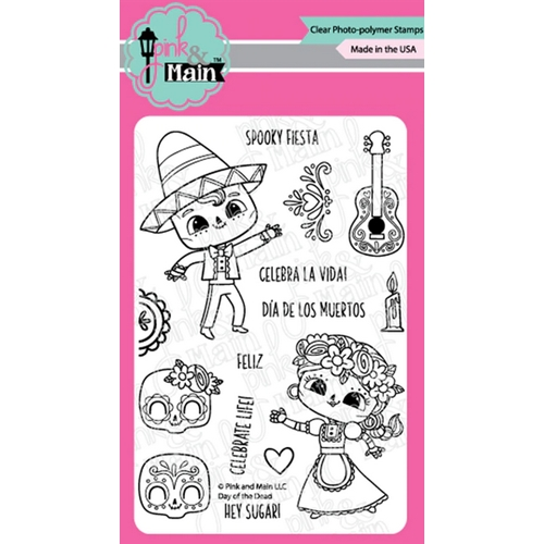 Pink and Main DAY OF THE DEAD Clear Stamps PM0416 Preview Image