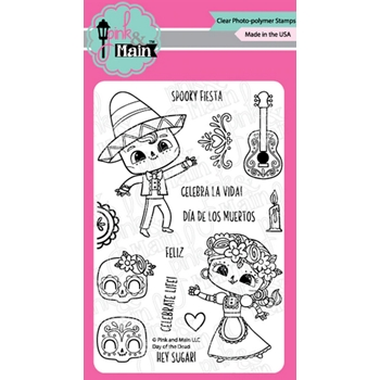 Pink and Main DAY OF THE DEAD Clear Stamps PM0416