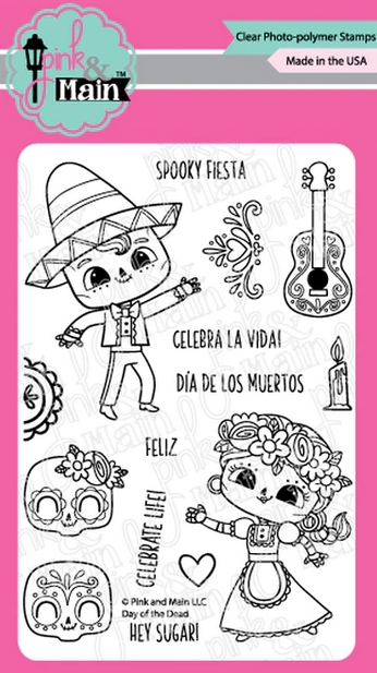 Pink and Main DAY OF THE DEAD Clear Stamps PM0416 zoom image