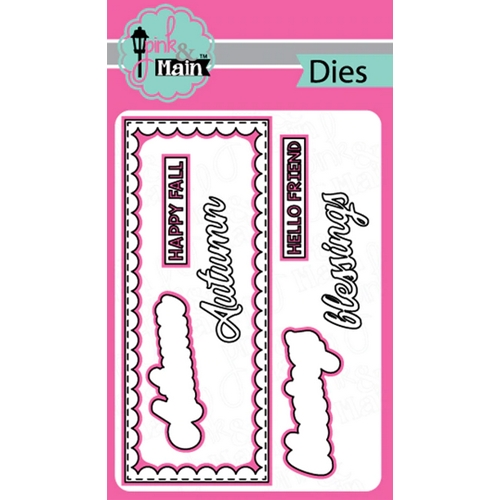 Pink and Main BLESSINGS SLIMLINE Dies PNM292 Preview Image