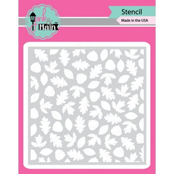 Pink and Main LEAFY Stencil PMS037
