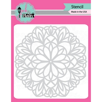 Pink and Main MANDALA Stencil PMS029