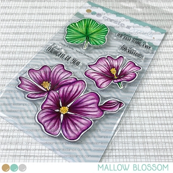 Create A Smile MALLOW BLOSSOM Clear Stamps clcs157