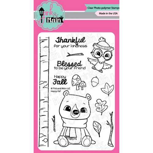 Pink and Main HAPPY FALL Clear Stamps PM0418 Preview Image