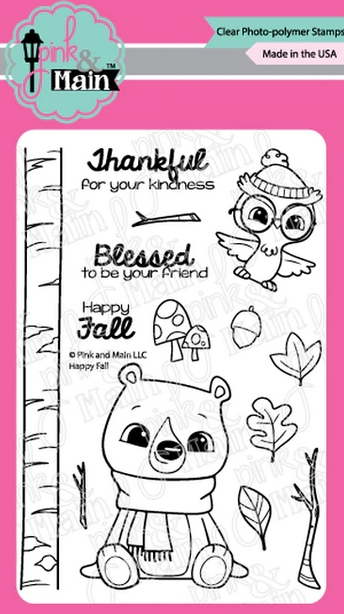 Pink and Main HAPPY FALL Clear Stamps PM0418 zoom image
