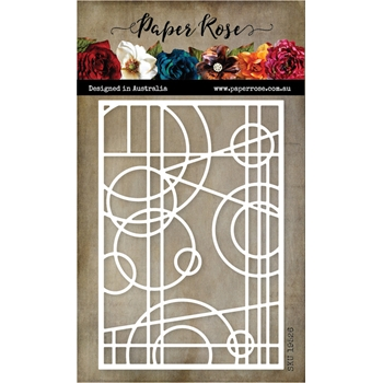 Paper Rose ABSTRACT STAINED GLASS Die 19526*