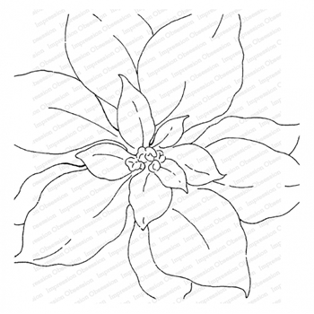 Impression Obsession Cling Stamp SOFT POINSETTIAS Create A Card CC410*