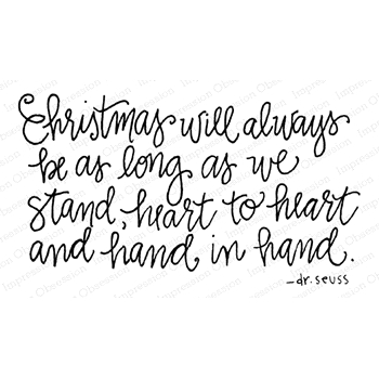 Impression Obsession Cling Stamp CHRISTMAS HAND E12305*