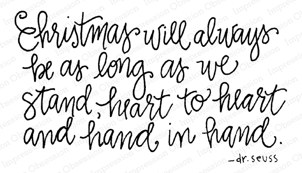 Impression Obsession Cling Stamp CHRISTMAS HAND E12305 zoom image