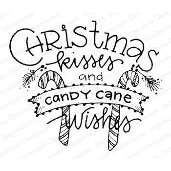 Impression Obsession Cling Stamp CHRISTMAS KISSES E12307