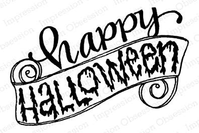 Impression Obsession Cling Stamp HAPPY HALLOWEEN D12263 zoom image