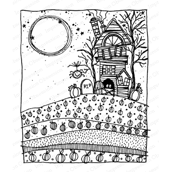Impression Obsession Clear Stamps HAUNTED HOUSE 1 G12264