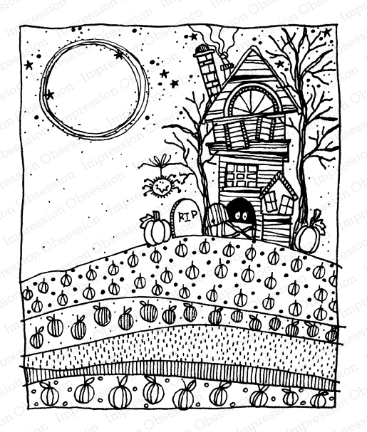 Impression Obsession Clear Stamps HAUNTED HOUSE 1 G12264 zoom image