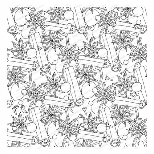Impression Obsession Cling Stamp MULLED Create A Card CC412 Preview Image