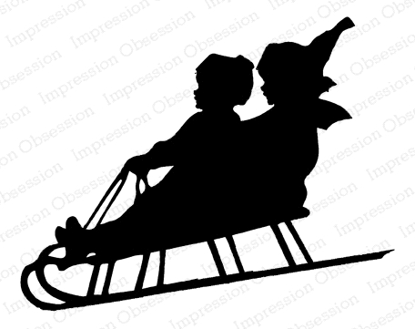 Impression Obsession Cling Stamp SLED SILHOUETTE E13923 Preview Image