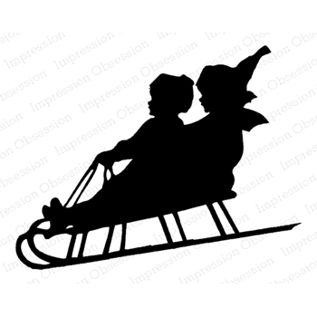 Impression Obsession Cling Stamp SLED SILHOUETTE E13923