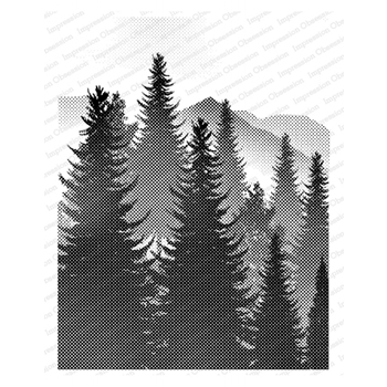 Impression Obsession Cling Stamp MOUNTAIN VIEW L13951