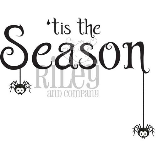 Riley and Company Funny Bones TIS THE SEASON HALLOWEEN Cling Rubber Stamp RWD-837 Preview Image