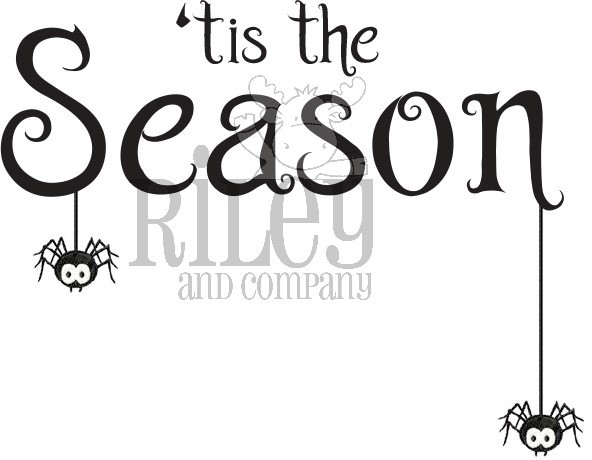 Riley and Company Funny Bones TIS THE SEASON HALLOWEEN Cling Rubber Stamp RWD-837 zoom image