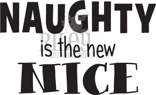 Riley and Company Funny Bones NAUGHTY IS THE NEW NICE Cling Rubber Stamp RWD-830 zoom image